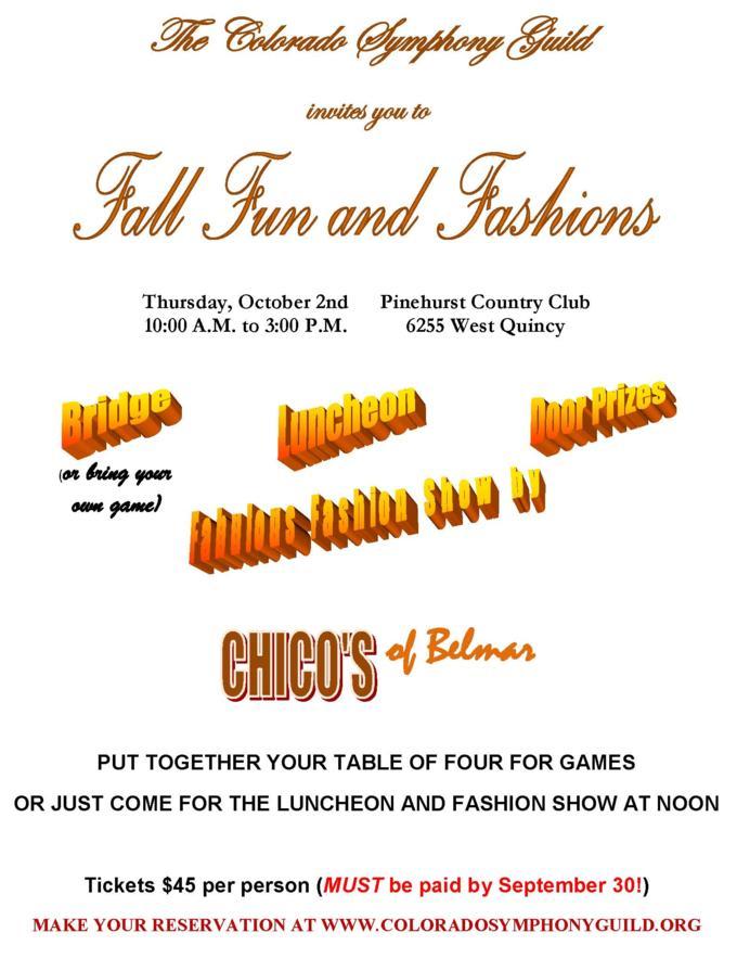 Fall Fun and Fashions